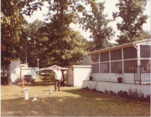 This is the only picture I have of the home in Bay Shore, Delaware; luckily, my pop is in it.