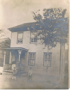 The family home in 1891.  The woman in the picture is Catherine, my 3x great grandmother.  This is the only photo I have ever seen of her.  The young girl in front of her is my great grandmother.