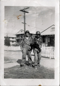 Adam L. Nahodil on right during training at Fort Knox.