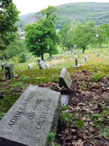 Adam L. Nahodil is buried atop Shamokin Cemetery with his mother and siblings.
