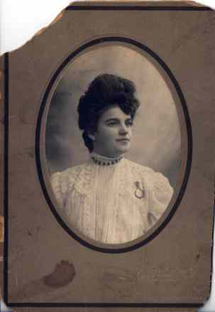 Mildred E. Wetzel Evans Patterson (ca. 1910)