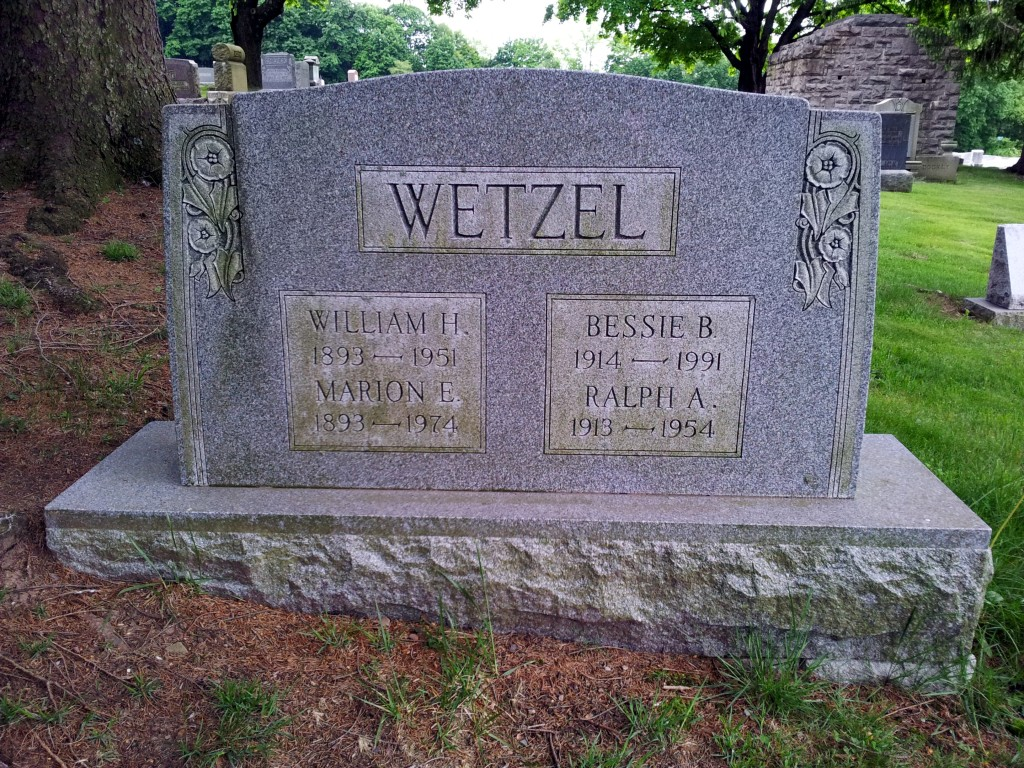 William Henry Wetzel born May 8, 1893 - died November 19, 1951
