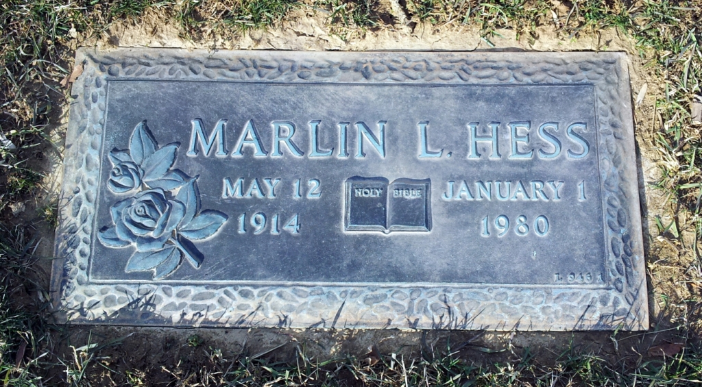 Marlin Lawrence Hess 12 May 1944 - 1 Jan 1980