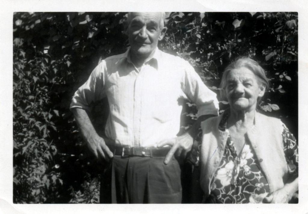 Howard Wetzel and Laura (Wetzel) Klinger celebrating their birthdays together