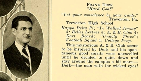 DerkBF_1926 DickinsonSeminary